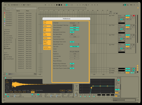 Simple Olive Theme for Ableton 10 by Flavio Gaete