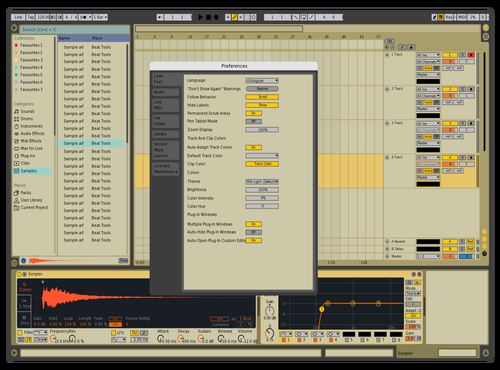 Juns Yellow Theme for Ableton 10 by Junsheng