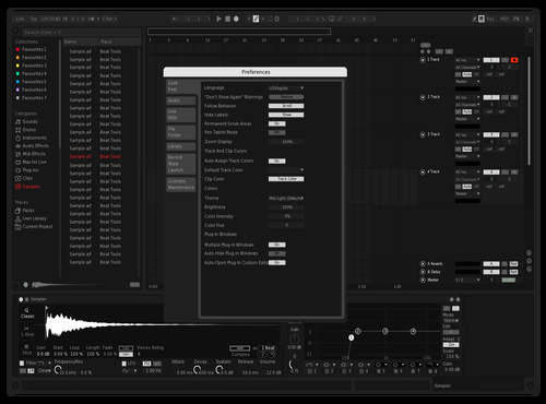 Test Theme for Ableton 10 by Mark Murillo