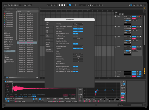 PinkandBlue 2 Theme for Ableton 10 by Zephaniah Carter