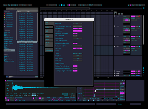 Dark Purple Theme for Ableton 10 by Grayson Brose