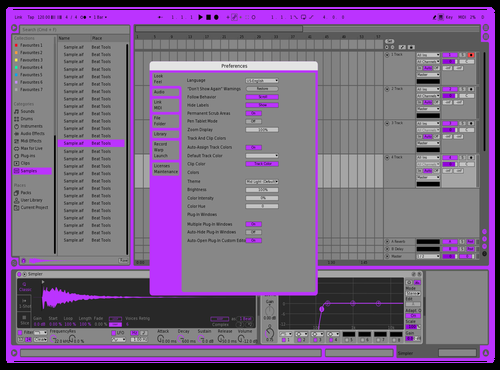 Nemo Blue Theme for Ableton 10 by Dency