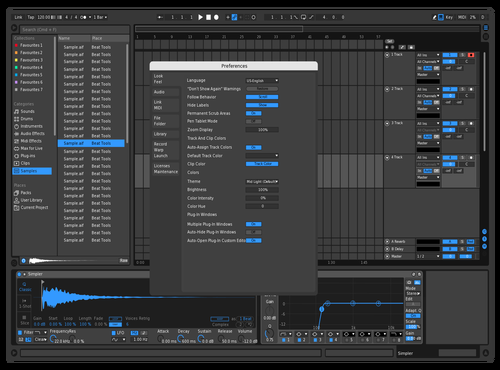 Blued Out Theme for Ableton 10 by Eric Smart
