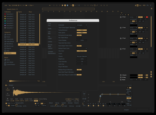 24K Theme for Ableton 10 by Rutger Velloso