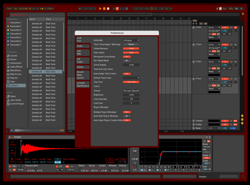 Red Rum Theme for Ableton 10 by bruh