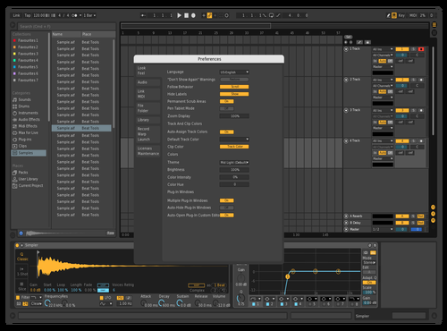 Dark Fixed Theme for Ableton 10 by Frank