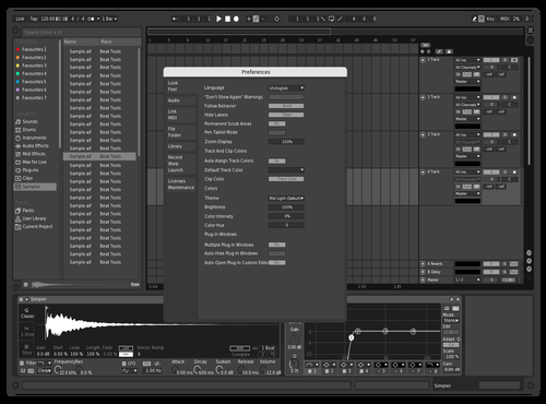 Real Black and White Theme for Ableton 10 by ich_hab_keine_email@byom.de